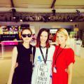 MBFW Berlin - leto 2014 Olo s modelkami Vandou Knápkovou a Terezou Debnárovou.JPG